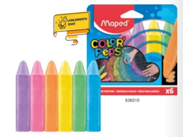 Giz de Chão Maped Color Peps  c/6 cores
