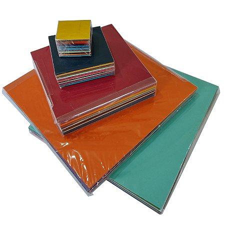 Kit Papel de Origami cores lisas