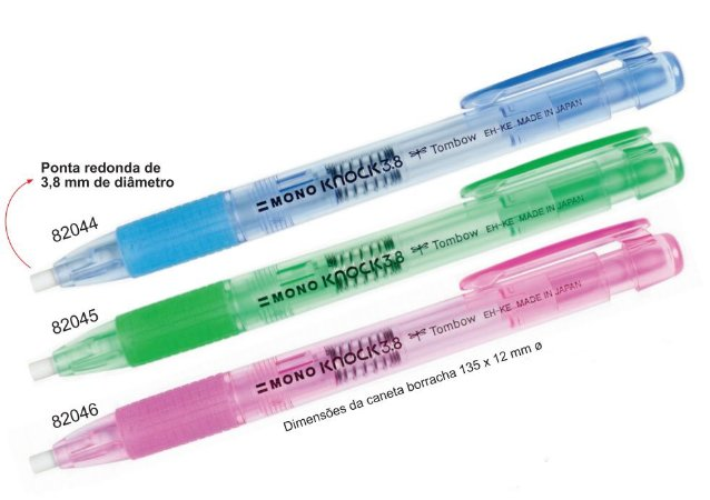 Caneta-Borracha Mono Knock 3.8 mm Ref.EHKE Tombow