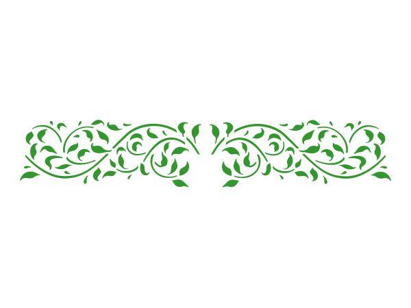 Stencil Acrilex Ref.1140 Floral 2 30cm x 8cm