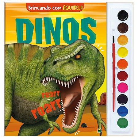 Brincando com Aquarela: Dinos - Todolivro