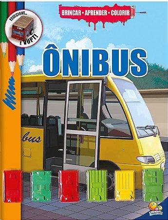 Brincar-aprender-colorir: Ônibus - Todolivro com Ônibus de fricção