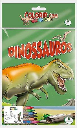 Colorir com Giz de Cera: Dinossauros - Todolivro