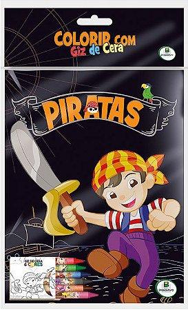 Colorir com Giz de Cera: Piratas - Todolivro