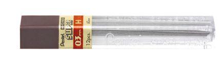 Grafite Pentel 0,3mm Hi Polymer Super tubo c/ 12 minas