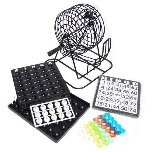 Bingo Completo com 75 Bolas e 18 Cartelas e Globo - Onyx Games