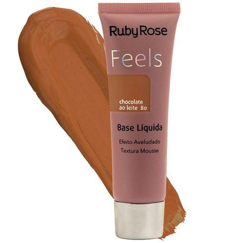 Base Liquida Feels Chocolate ao Leite 80 - Ruby Rose*