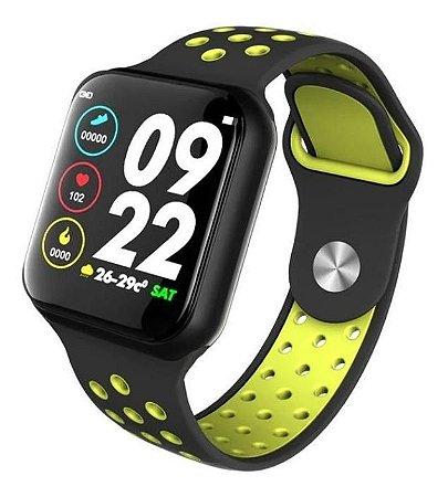 Relógio Inteligente Sport F8 Black & Yellow*