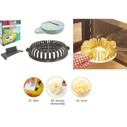 Batata chips de microondas