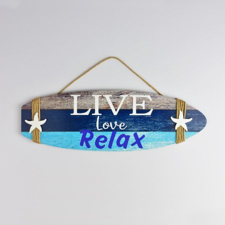 Enfeite Prancha Live Love Relax