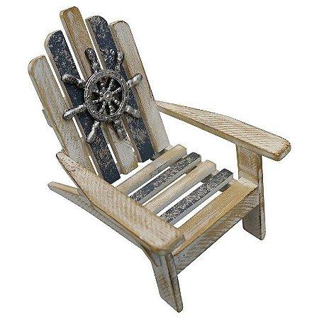 Enfeite Cadeira Relax em Madeira