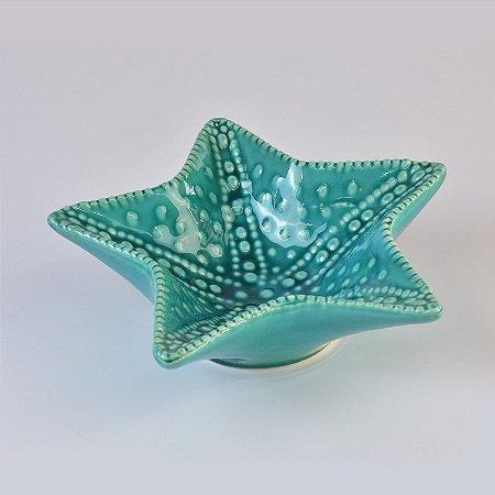 Estrela do Mar Azul Grande em Cerâmica