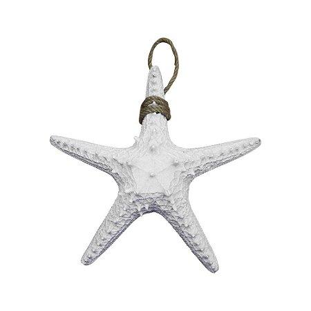 Estrela do Mar Branca Pequena em Resina