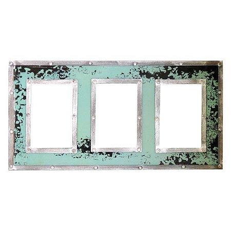 Porta Retrato Verde em Madeira