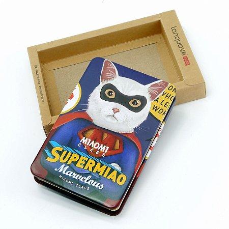 Bloco de Notas Gato Azul Super Homem