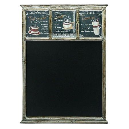 Quadro Negro Decorativo Coffee