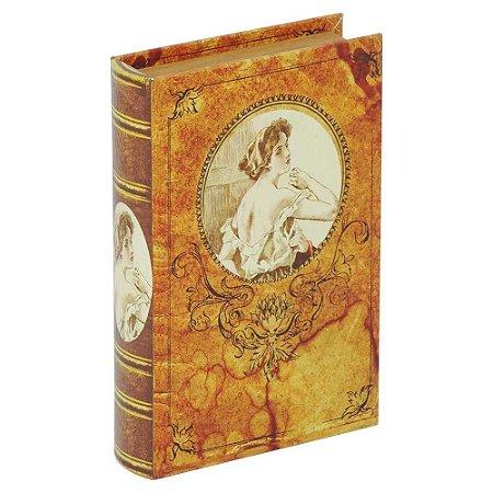 Porta-Objetos com Chave Livro Woman