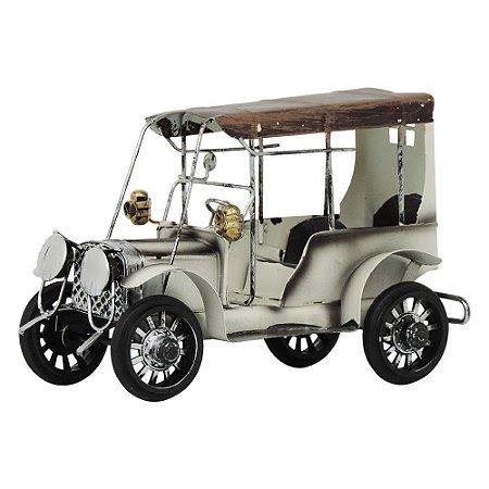Decorativo Carro Miniatura Antigo Branco