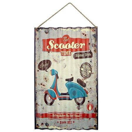 Placa em Metal Scooter
