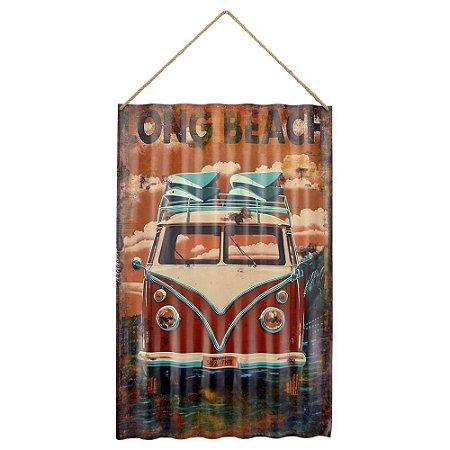 Placa em Metal Kombi Vintage