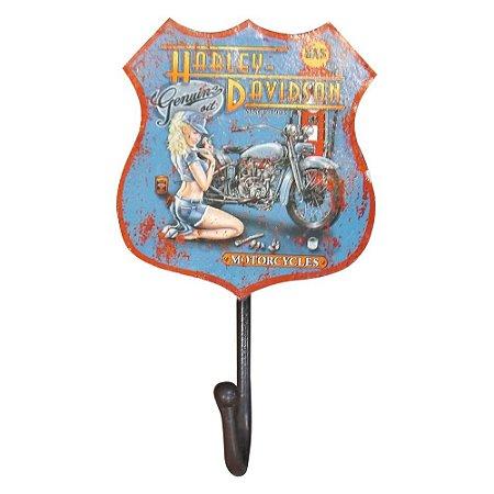 Cabideiro de Parede Rústico Azul Harley