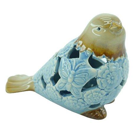 Pássaro de Cerâmica Azul B
