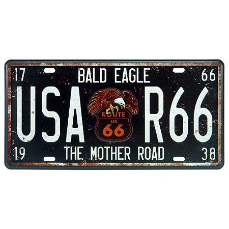 Placa Decorativa em Metal USA