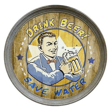 Decorativo de Parede Tampa de Barril Drink Beer