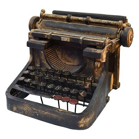 Máquina de Escrever Preta em Resina