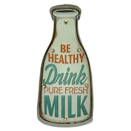 Placa em Metal Milk
