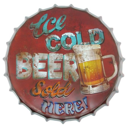 Tampa Decorativa Ice Cold Beer