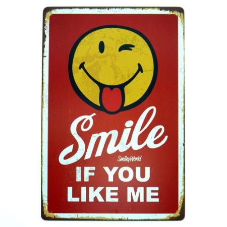 Placa em Metal Smile