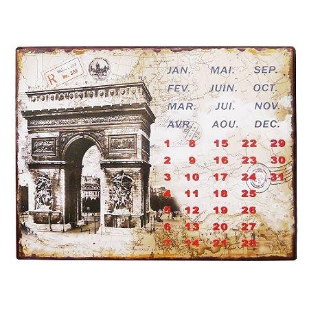 Calendário Permanente Arco Do Triunfo
