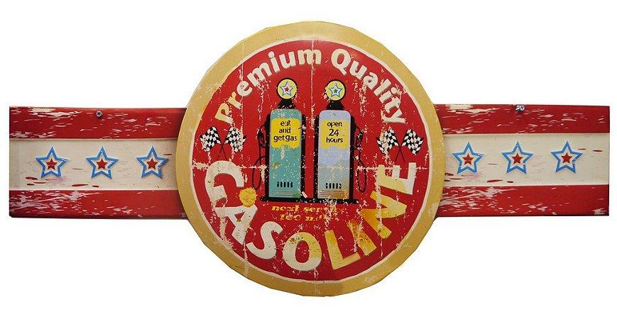 Placa em Metal Gasoline