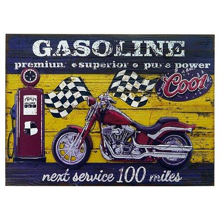 Quadro Gasoline Moto Verm.
