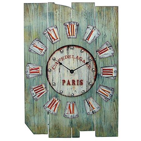 Relógio de Parede Retrô Paris