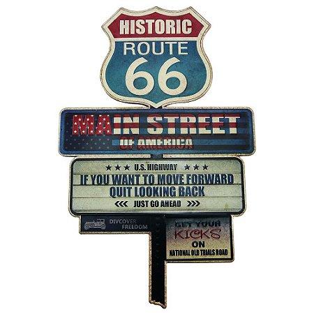 Placa Setas Route 66
