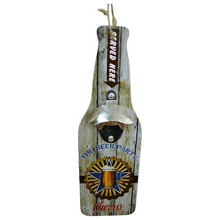 Abridor de Garrafa de Madeira Beer Party