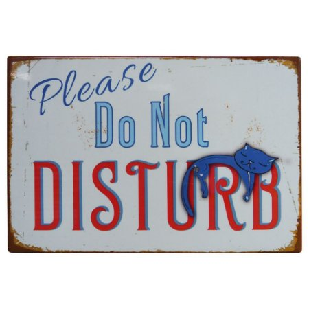 Placa de Cerâmica Do Not Disturb