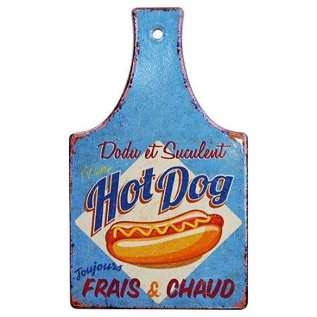 Tag de Cerâmica Hot Dog Azul