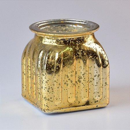 Vaso de Vidro Dourado M