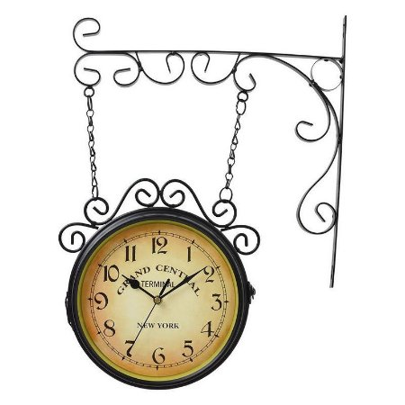 Relógio de Parede Estação New York Rústico