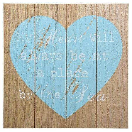 Enfeite Mot. Coração Azul