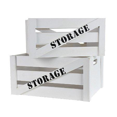 Jogo 2 Caixotes Storage G