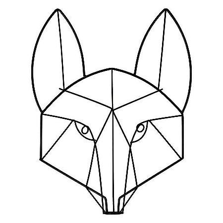 Enfeite Aramado Wolf Preto