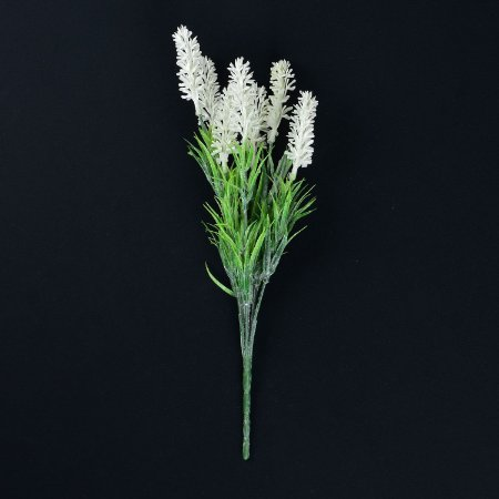 Flor Artificial Lavanda Inglesa Branca
