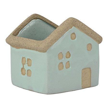 Vaso de Cerâmica House Verde Mod.1