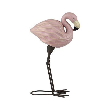 Flamingo Decorativo de Resina 31Cm