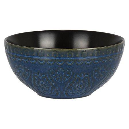 Bowl Azul Escuro e Preto