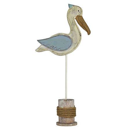 Enfeite Pelicano Azul Grande
